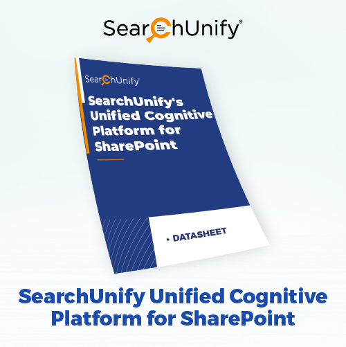 SearchUnify's Unified Cognitive Platform for SharePoint